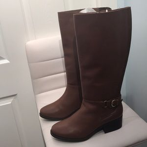 Lane Bryant Leather Riding Boots. Brown Color.